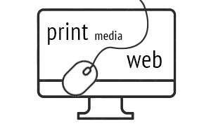 Web design and print media design
