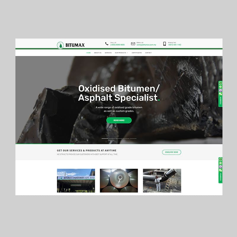 Bitumax Corporate Website Design