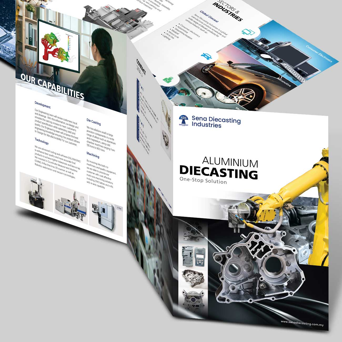 Sena Diecasting Company Profile in Brochure Type