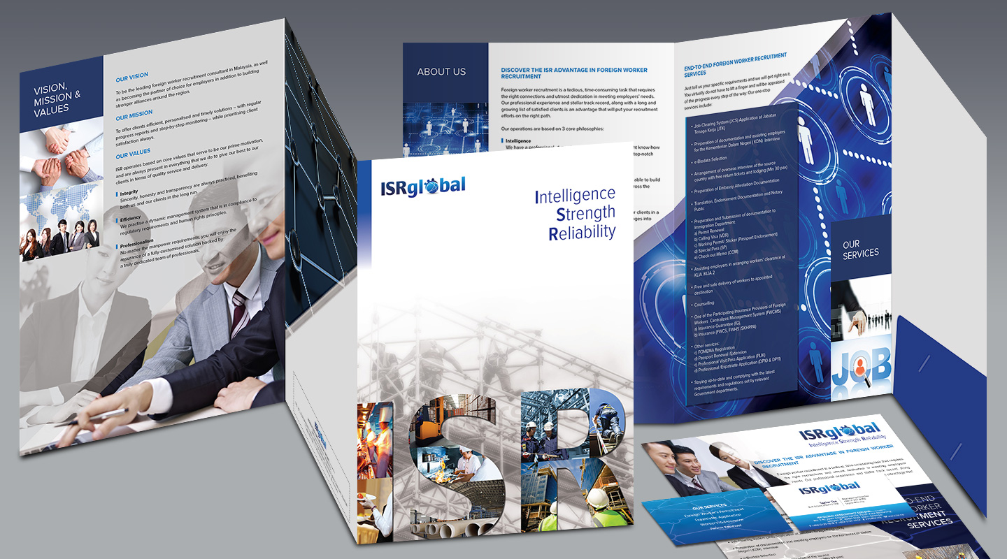 One stop solution portfolio the covers web print and for Design consultancy company profile